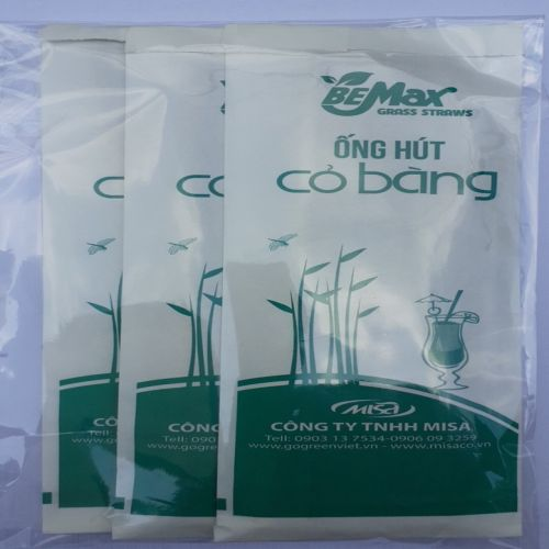 Ống hút cỏ bằng BeMax Sheet 3 túi 10 ống 20cm - 8938503101752