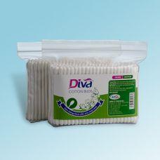 Tăm bông vệ sinh tai cho người lớn thương hiệu Diva gói 200 que nhựa-ZDVN200
